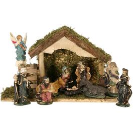 10 Piece Ceramic Nativity Set, with Stable thumb