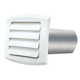 "6"" Louvered White Vent Hood, with Tailpiece thumb"