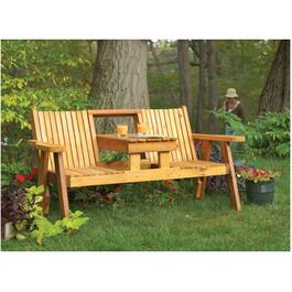 "36"" x 32"" x 70"" Cedar Double Bench Package thumb"