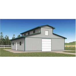 36' x 36' x 10' Horse Stable Farm Building Package thumb
