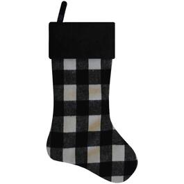 "20"" Black and White Plaid Stocking thumb"