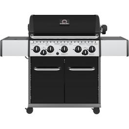 5 Burner + 1 Side Burner + 1 Rear Rotisserie Burner 805 sq. in. 50,000BTU Natural Gas Barbecue, with Cabinet thumb