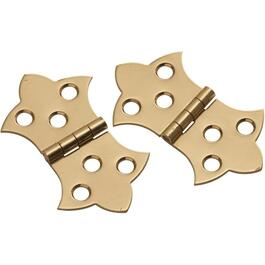 "1-5/16"" x 2-1/4"" Brass Decorative Hinge thumb"