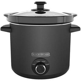 4.0 Quart Round Black Slow Cooker, with chalkboard Housing thumb
