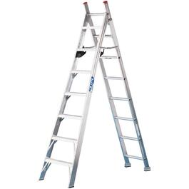8' #2 Aluminum 3-Way Ladder thumb