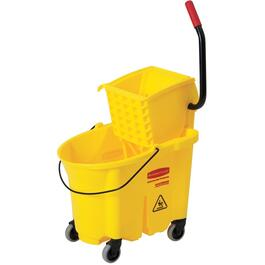 35 Quarts WaveBraker Industrial Yellow Mop Pail and Wringer System thumb