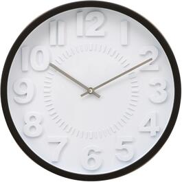 "16"" Black 3D Frampton Round Wall Clock thumb"