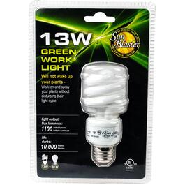 13W Spiral Medium Base 6400k Compact Fluorescent Plant Light Bulb thumb