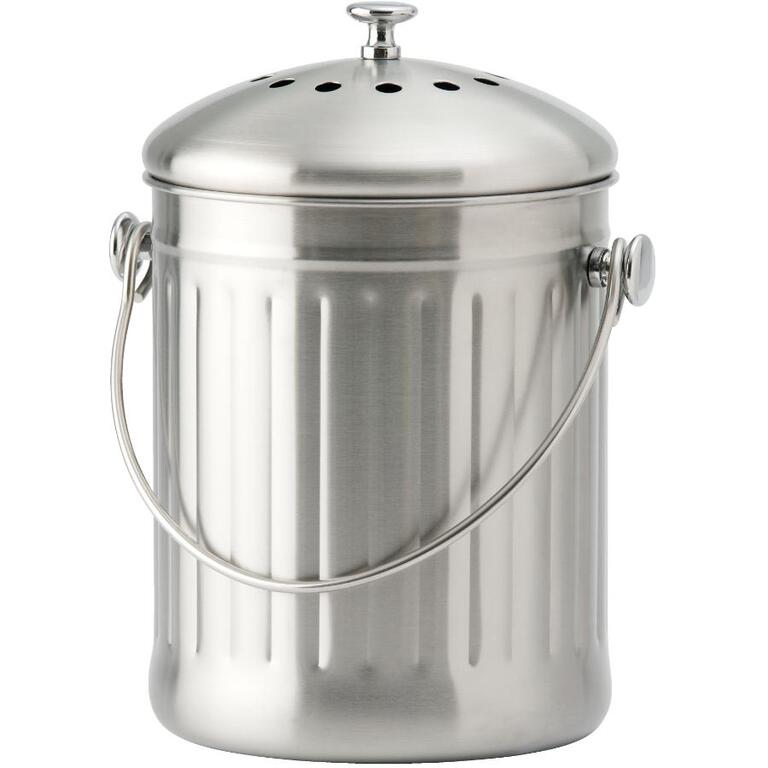 4 5l stainless steel kitchen composter with filter home hardware