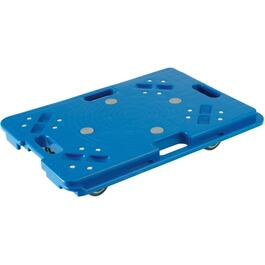 "24"" x 16"" x 4-1/2"" Blue Plastic Dolly thumb"