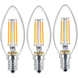 3 Pack 4.5W B12 Candelabra Base Daylight Dimmable LED Bulb thumb