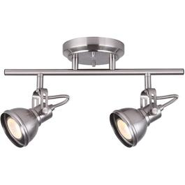Polo 2 Light Brushed Nickel Track Light Fixture thumb