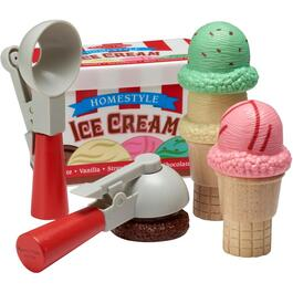 10 Piece Scoop and Stack Ice Cream Cone Wooden Food Set thumb