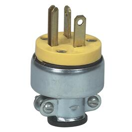 3 Wire 20 Amp 250V Armoured Electrical Plug thumb