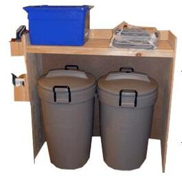Pine Indoor Garbage Bin Organizer Project Package thumb