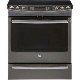 "30"" 6.6 cu. ft. Slate Slide-In Electric Range thumb"