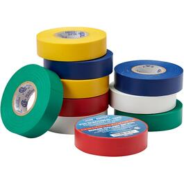 "10 pack Assorted Colours of 7mil x 3/4"" x 60' CSA Approved Electrical Tape thumb"
