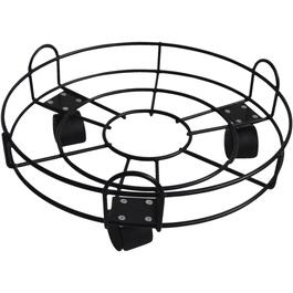 "13"" Black Round Wire Plant Dolly thumb"