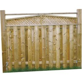 5' Pressure Treated Angled Top Lattice Fence Package thumb