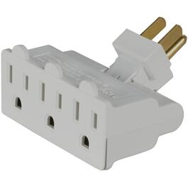 3 Outlet White Swivel Wall Tap thumb