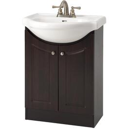"24"" x 12"" 2 Door Espresso Vanity with China Top thumb"