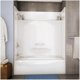 Essence 4 Piece White Fibreglass Left Hand Tub and Shower Less Cap thumb