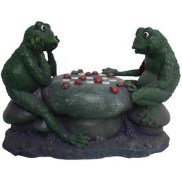 Frogs Playing Checkers Garden Statue thumb