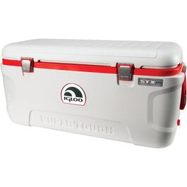 120 Quart White/Red Super Tough Cooler thumb