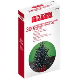 300 LED Pure White Dot Light Set, with Green Wire thumb