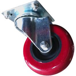 "3"" Red on Black Polyurethane Caster thumb"