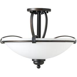 "16.5"" Oil Rubbed Bronze Ella Semi-Flush Light Fixture thumb"