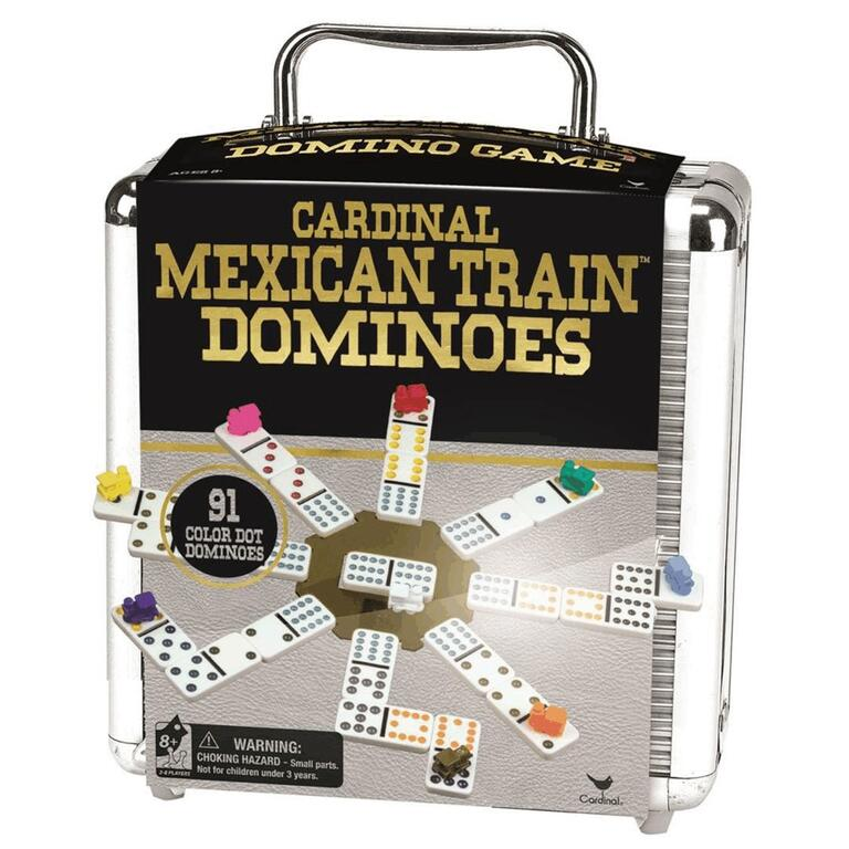 CARDINAL Mexican Train Dominoes, with Case