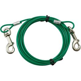 15' Heavy Duty Tie-Out Dog Cable, for Dogs Up to 80 lbs thumb