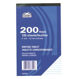 "100 Sheets 5"" x 8"" Lined Writing Paper thumb"