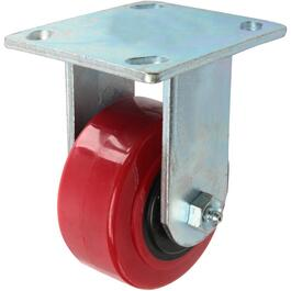 "4"" Polyurethane Wheel Rigid Plate Caster thumb"