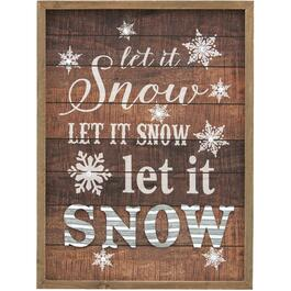 "11"" x 15"" Battery Operated Lighted Let Snow Wall Plaque thumb"