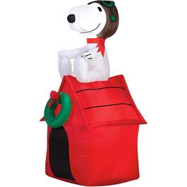 3.5' Outdoor Inflatable Airblown Snoopy on House Figure thumb