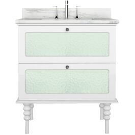"30"" x 21.5"" 2 Drawer Elyse White Vanity thumb"