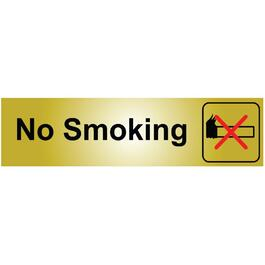 "2"" x 8"" Stick On Metal No Smoking Sign thumb"