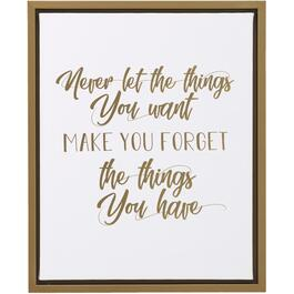 "17.5"" x 21.5"" Never Let The Things You Want Make You Forget The Things You Have Framed Plaque thumb"