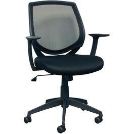 Black Mesh Low Back Office Chair, with Upholstered Seat thumb