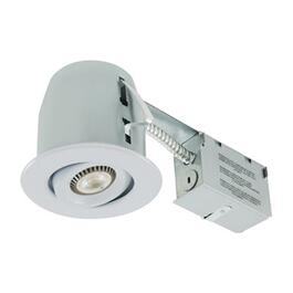 "4"" 5W White Recessed Remodel LED Light Fixture for Non Insulated Ceilings thumb"