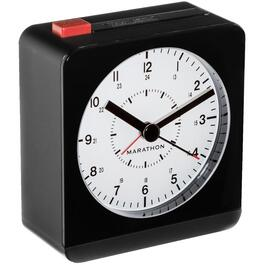 Analog Desk Alarm Clock, with Auto-Night Light thumb