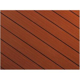 "1"" x 5-1/8"" x 12' AccuSpan Bordeaux Grooved Edge Deck Board thumb"