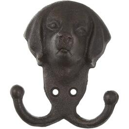 Cast Iron Double Hook Dog Wall Hook thumb