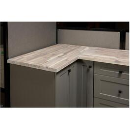 "74"" x 40"" x 1.5"" Organic White Acacia Wood Countertop thumb"