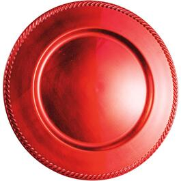 "13"" Red Charger Plate thumb"
