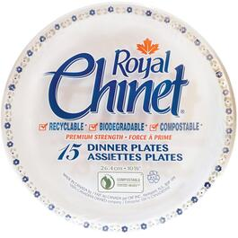 15 Pack Chinet Dinner Plates thumb