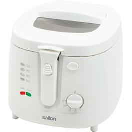 2.5L Round White Cool Touch Deep Fryer thumb