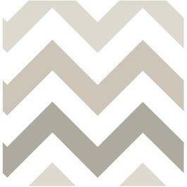 "20.5"" x 18' Taupe Zig Zag Peel and Stick Wallpaper thumb"